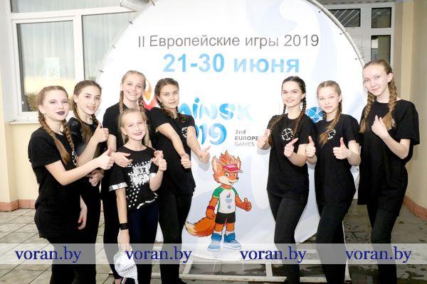 Флешмоб, посвященный прибытию эстафеты огня «Пламя мира» в Гродненскую область, провели в Вороново (Фото)