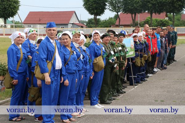 Соревнования санитарных и пожарных дружин прошли в Вороново