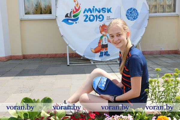 За мастерское выполнение топ-спина по пластиковому стаканчику вороновская школьница получила два бесплатных билета на II Европейские игры