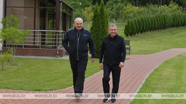 Встреча Лукашенко и Мирзиёева проходит во Дворце Независимости