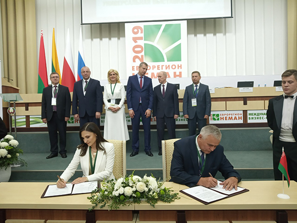 «Еврорегион «Неман-2019»: подписано Соглашение между Вороновским райисполкомом и самоуправлением Шальчининкского района