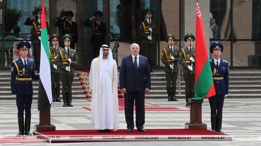 Лукашенко проводит встречу с наследным принцем Абу-Даби