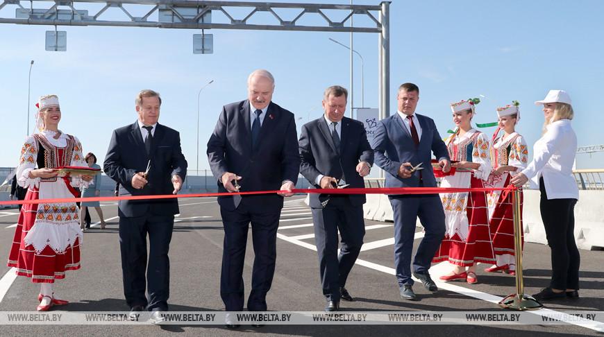 Александр Лукашенко принял участие в торжественной церемонии открытия Западного обхода Бреста