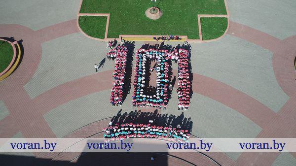 Более трехсот вороновских школьников стали участниками флешмоба в рамках Единого дня безопасности (+Видео)