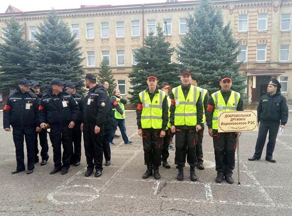 Вороновцы участвуют в областном смотре-конкурсе добровольных дружин охраны правопорядка