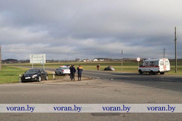 На перекрестке возле г.п. Вороново произошло ДТП (фото)