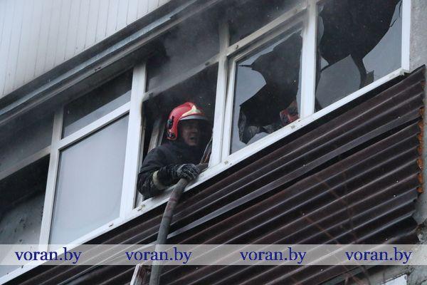 В Вороново горела квартира