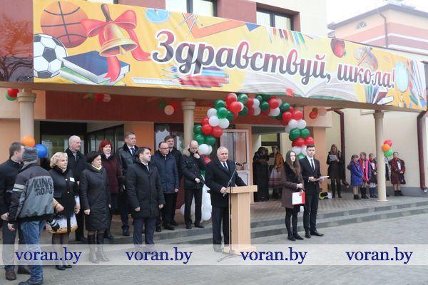 Ждут детей обновленные классы. Корпуса Вороновской средней школы открылись после реконструкции (Дополнено, +Видео)