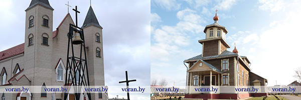 Сімвалічны звон Памяці аб'яднаў святыні Воранаўшчыны (Дапоўнена, ВІДЭА)