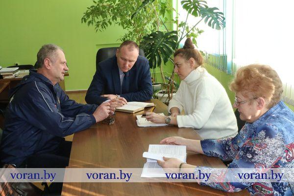 В Вороновском колледже сельскохозяйственного производства прошел профсоюзный прием граждан