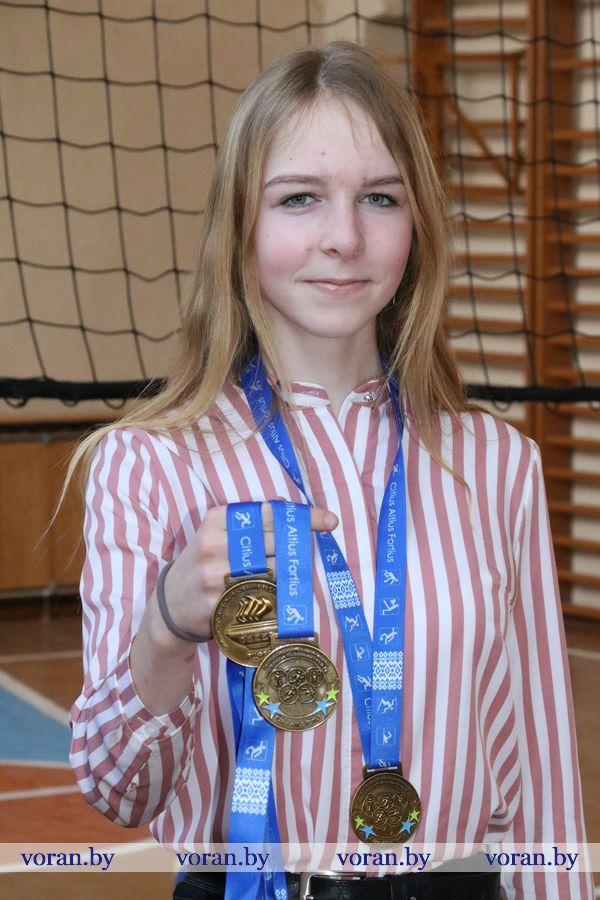 Первая медаль Насти