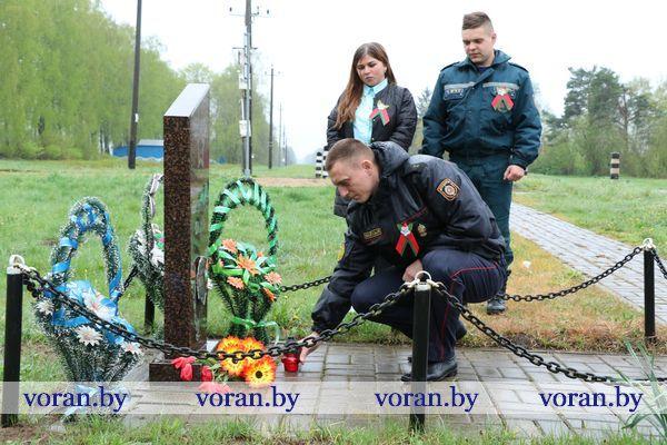 Молодежь Вороновщины присоединилась к эстафете памяти «Беларусь помнит. Помним каждого»