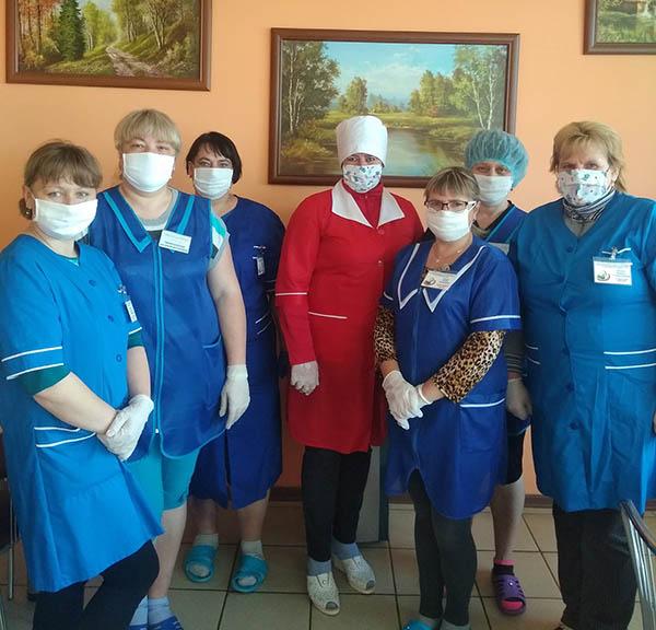 Соцработники приняли вахту в отделении круглосуточного пребывания для граждан пожилого возраста и инвалидов в д. Бастуны
