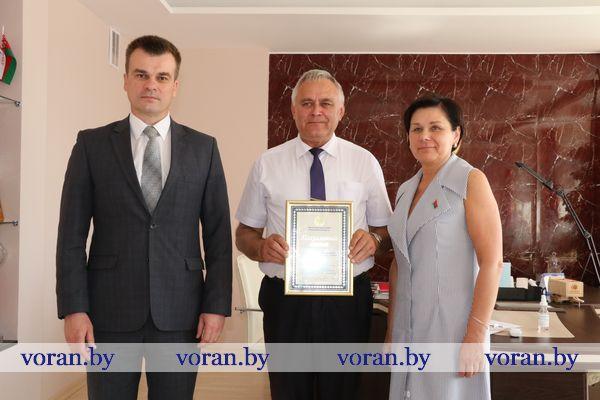 Сегодня в г.п. Вороново прием граждан провел министр юстиции Республики Беларусь Олег Слижевский