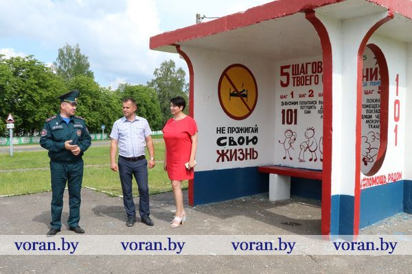 В Вороновском районе появилась первая тематическая «остановка безопасности» от МЧС