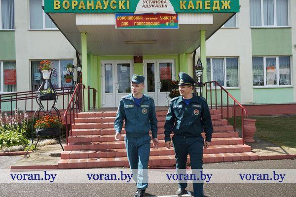 В Вороновском районе МЧС проводит мониторинг противопожарного состояния объектов, в которых размещены избирательные участки
