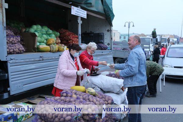 Подходи — не ленись, покупай — не скупись. Сегодня в Вороново и Радуни прошли сельскохозяйственные ярмарки (Фото)