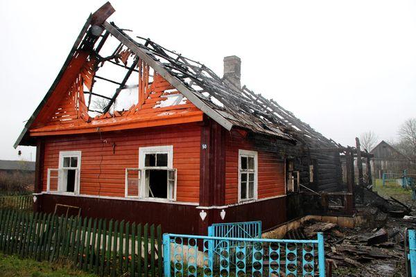 В Вороновском районе произошел пожар